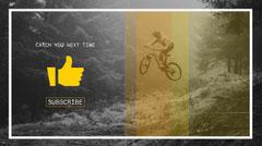 Yellow Grey Mountain Biker Animated Youtube Outro Bike