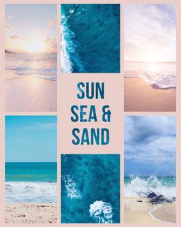 Sun Sea &<BR> Sand Collage di foto