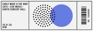 Blue Circles Concert Ticket Billet