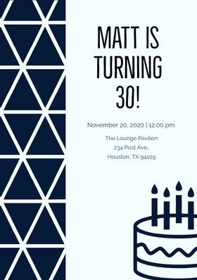 Matt is turning 30! Birthday Invitation