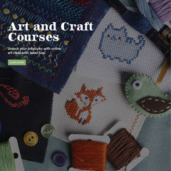 black and white arts and crafts courses instagram Art