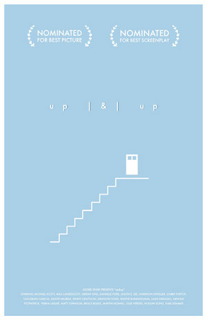 Blue Movie Poster with Stairs Poster film