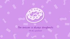 Pink Sprinkles and Donut Wallpaper Donut
