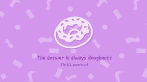 Pink Sprinkles and Donut Wallpaper Desktop Wallpaper