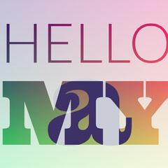 Multicolored Hello May Square Instagram Graphic Hello