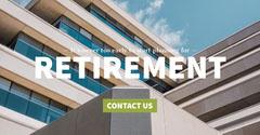 Light, Bright Retirement Program Ad Facebook Banner Retirement