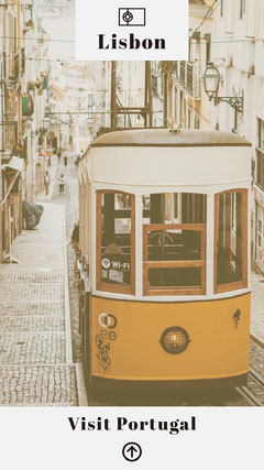 White and Yellow Lisbon Instagram Story Travel