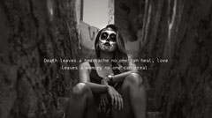 Grey and White Spooky Quote Twitter Banner Scary