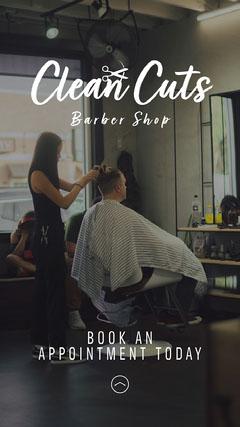 Clean Cuts Barber Shop IG Story Barber