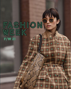 Green Fashion Week Instagram Portrait Blogger