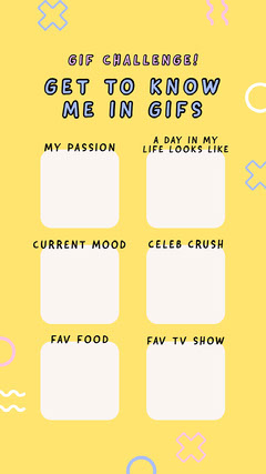 GET TO KNOW ME IN GIFS Instagram Story
