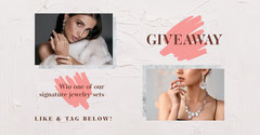Pink Jewelry Like And Share Facebook  Giveaway