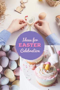 Easter Celebration Ideas Pinterest Graphic  Easter
