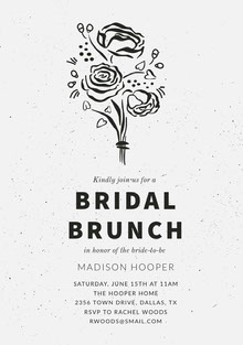 BRIDAL <BR>BRUNCH  Convite de casamento