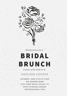 BRIDAL <BR>BRUNCH  Wedding Invitation