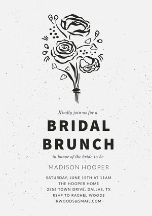 BRIDAL <BR>BRUNCH  Bridal Shower Invitation