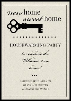 Gray Housewarming Party Invitation Card Lifestyle