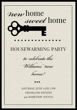 Gray Housewarming Party Invitation Card Housewarming Invitation