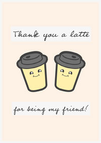 White and Black Thank You For Being My Friend Card Thank You Messages