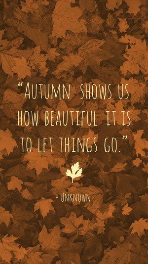Brown Autumn Quote Smart Phone Wallpaper iPhone-Hintergrundbild