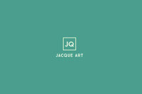 Turquoise Aritst Business Brand Logo  Label