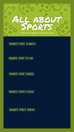 Green and Blue Sport Quiz Instagram Story Quiz Night Poster