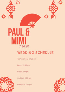 Paul & Mimi Wedding Program