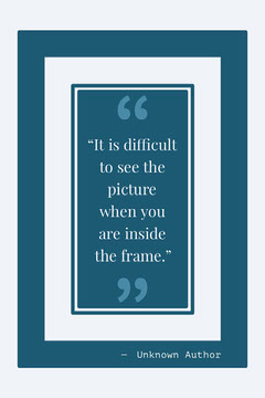 White and Blue Quote Pinterest Frame