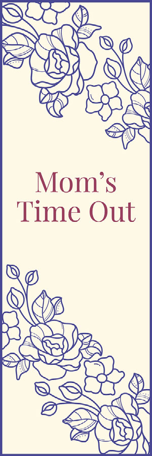 Pink and Blue, Floral Patter, Mom Time Out Bookmark Bookmark