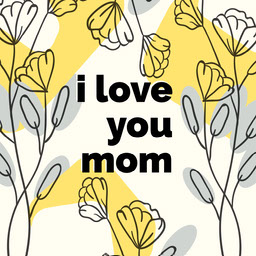 floral patterned Mother's Day Instagram post
