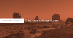Red and White Monochrome Travel Ad Facebook Banner Desert