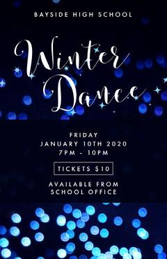 Navy Blue Winter Dance Flyer School Dance Flyer