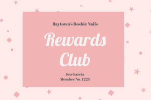 Rewards <BR>Club  Identiteitskaart