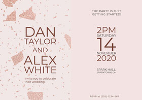 Alex White Save the Date Card