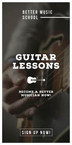 GUITAR LESSONS Music Lessons Flyer