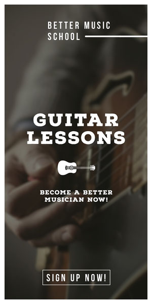 GUITAR LESSONS Advertisement Flyer