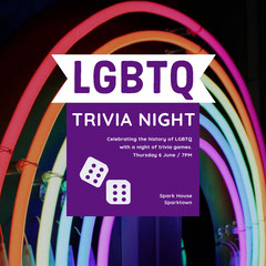 LGBTQ  Game Night Flyer