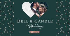 Green Bell & Candle Weddings Facebook Ad Heart