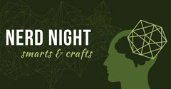 Green and White Nerd Night Facebook Page Cover Game Night Flyer