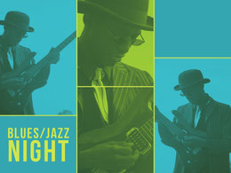 Yellow and Blue Jazz Night Collage Photo Collage