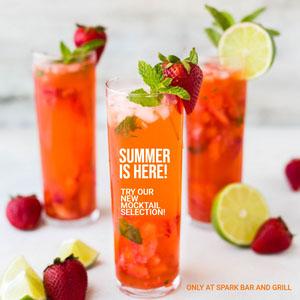 Light, Bright, Fresh Mocktail Selection Ad Instagram Post Drink Menu