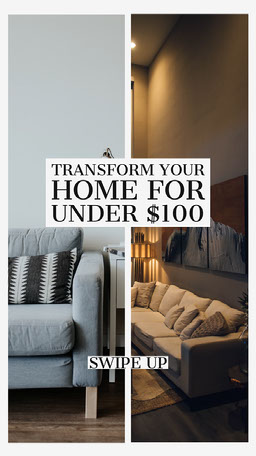 Transform your home Instagram Story