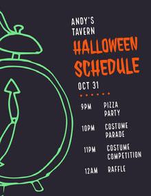 Halloween Slime Party Schedule Aikataulu