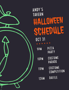 Halloween Slime Party Schedule Halloween Party Schedule