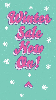 Green and Pink Winter Sale Now On Instagram Story Deal