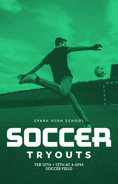 soccer tryout poster Soccer