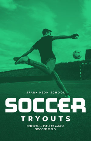 soccer tryout poster 50 Modern Fonts