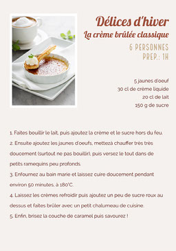 Neutral Creme Brulee Recipe Sheet A5