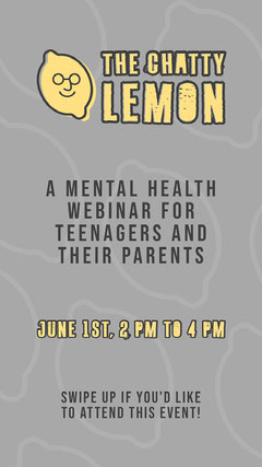 Grey and Yellow The Chatty Lemon Instagram Story Health Poster