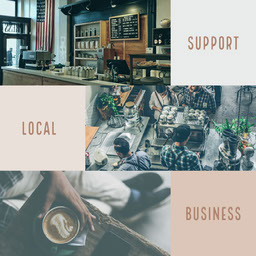 Minimalist Support Local Business Instagram Square